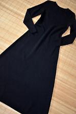 HALLHUBER wunderschönes Maxi Kleid Wollkleid Gr. S 36 38 neu 100% Wolle Schwarz