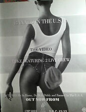 BANNED IN THE U.S.A ADVERT POSTER 2 LIVE CREW ORIGINAL NOT REPRINT VERY RARE