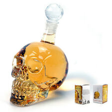 Decanter Crystal Skull Head Vodka Shot Whiskey Wine Drinking Glass Bottle Wine