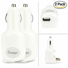 (2 pack) - AMP 2-in-1 Dual Smart USB Ports Home & Car Charger w/Foldable AC