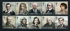 Great Britain Scott #2696a//2701a MNH STRIPS Famous People CV$13+ ISH-1