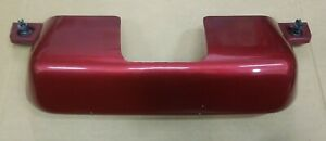 LINCOLN NAVIGATOR 2007-2014 OEM REAR BUMPER TRAILER TOW HITCH COVER TRIM RED