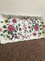 James Kent – Old Foley ' Chinese Rose ' Long Plate/Sandwich Tray - trinket tray
