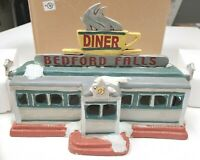NEW It's A Wonderful Life Illuminated Village Bedford Falls Diner Enesco