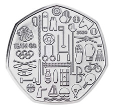 2020 Olympic GB Team 50p pence coin Royal Mint NEW BUNC Uncirculated condition
