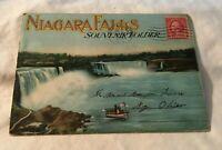 * Vintage 1928 Niagara Falls Souvenir Folder Postcard Pack