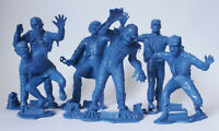 Set 6 UNIVERSAL MONSTERS Louis Marx Plastic Figure BLUE Creature Wolfman