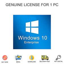 Windows 10 Enterprise 32&64 bit Activation Key For 1 PC Genuine