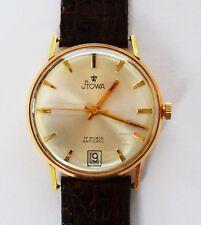 Stowa 17 Rubis Armbanduhr Herrenarmbanduhr 18 Karat 750 Gold Handaufzug 1950/60