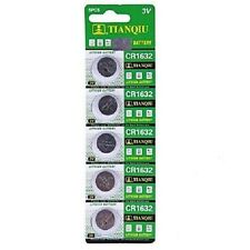 5pc TIANQIU CR1632 DL1632 BR1632 KECR1632 3V Lithium Button Cell Watch Battery