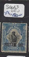 NORTH BORNEO (P1512B)  12C BIRD  POSTAGE DUE SG D83   VFU