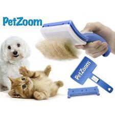 PetZoom Pet Dog Cat Grooming Self Cleaning Brush Comb Hair Fur Shedding Tool US