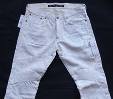 Ralph Lauren Black Labe CREAM Coated Motorcross Jeans Gr 34/32