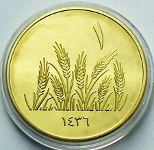 MIDDLE EAST 1 DINAR 2013 - 1436 EARS OF WHEAT GRAIN COMMEMORATIVE 30mm UNC COIN