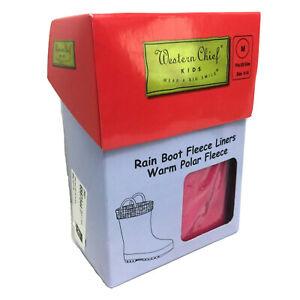 Western Chief Kids Rain Boot Fleece Liners Magenta Tulle Socks Sz M 9 10 NIB