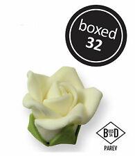 JEM Cake Icing Decorating Sugarcraft Ready Made Small Sugar Rose White 25mm 32Pk