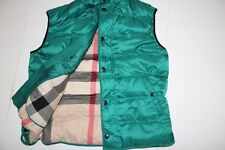 New $595 Burberry Brit  Down Puffy Vest  men MEDIUM M   Green