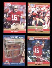 1990 Pro Set JOE MONTANA San Francisco 49ers Card Lot Pro Bowl Passing Leaders