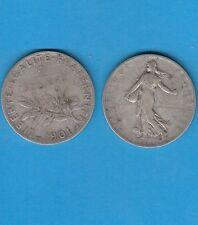 Gertbrolen 2 Francs argent Type Semeuse  1901