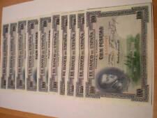 SPAIN 100 PTAS 1925 VF. LOT DEALER, BUNDLE 100 pieces. COMPLETE BUNDLE