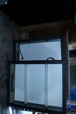MENU  SIGN, 115 VOLTS, LIGHTED, BLACK FRAME, 2 UNITS, 900 ITEMS ON E BAY