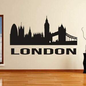 London UK Cityscape Skyline Wall Art Sticker (AS10278)