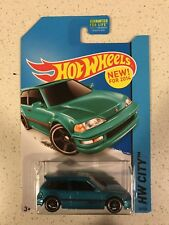 Hot Wheels 1990 Honda Civic EF HW City Teal Blue Variation VHTF