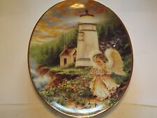 """OVAL PLATE  BRADFORD EXCHANGE # 8852A   """" A Little Love Lights the Heart """""""