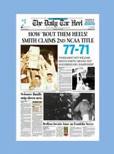 UNC TAR HEELS 1993 BASKETBALL CHAMPS MATTED PHOTO OF NEWSPAPER FRONT PAGE #2