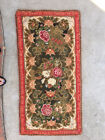 Antique American needlepoint rug, stitched in 1871, museum quality textile