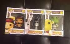 Funko Pop Lot Of 3 - Shrek Donkey And Puss In Boots