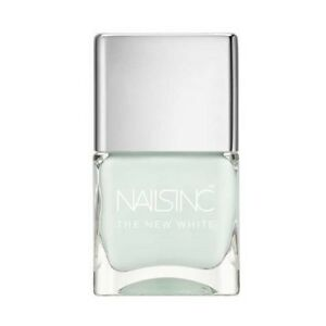 Nails inc Swan Street New White Nail Polish Porcelain Enriched Full Size .47oz