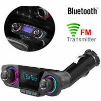 Bluetooth Kit de Voiture Transmetteur FM Mains Libres Lecteur mp3 USB Chargeur