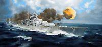 German Bismark Battleship Plastic Kit 1:200 Model 3702 TRUMPETER