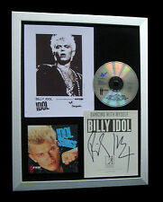 BILLY IDOL+SIGNED+FRAMED+KINGS+WEDDING+YELL+HOT=100% GENUINE+EXPRESS GLOBAL SHIP
