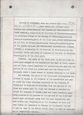 Inventor George Westinghouse Signed (2x) Contract 1897 / Rr Air Brake in Canada