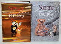 Two STEIFF IDENTIFY GUIDE 1892-43 and 1947-2003 Sortiment Book Gunther Pfeiffer