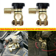 2X Car Battery Terminals Quick Disconnect Auto Boat Post Off Master Kill Switch