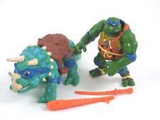 TMNT Vintage Caveman Leo Figure Dingy Dino Teenage Mutant Ninja Turtles 1993