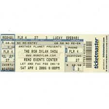 Bob Dylan Concert Ticket Stub Reno Nevada 4/1/06 Events Center Slow Train Comin