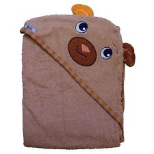 """Extra Large 40""""x30"""" Hooded Towel, Bear, Frenchie Mini Couture (brown)"""