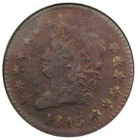 1813 Classic Head Large Cent 1C S-293 - ANACS VF30 Detail - Rare this Sharp!