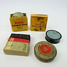 Vintage Kodak Lot of Camera Accessories Adapter Ring Portra Lens Coated Filter