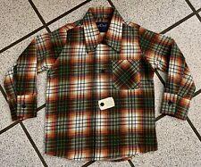 Vintage Boys Shirt Western Cowboy DEE CEE Plaid Long Sleeve 1980s Buttons Sz 2T