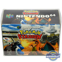 1 Box Protector for Nintendo N64 Pokemon Stadium Game 0.5m Plastic Display Case