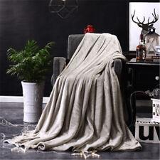 50*70cm Kids Winter Warm Rabbit Knitting Blanket Bedding Quilt Play Blanket US