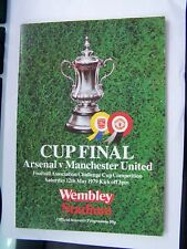 FOOTBALL, PROGRAMME, MANCHESTER UNITED, ARSENAL, FA CUP FINAL, WEMBLEY, 1979
