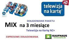 3m. MIX, N  TELEWIZJA NA KARTĘ  NC+  Doładowanie EXPRES Aufladung TnK TV Polska