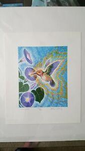 "Alex Grey ""Hummingbird"" Limited Ed. Fine Art Print Numbered & Signed w/COA"