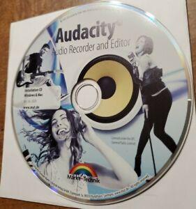 Audacity Pro Audio Editor and Recorder Installation CD-ROM 2016 Windows & Mac